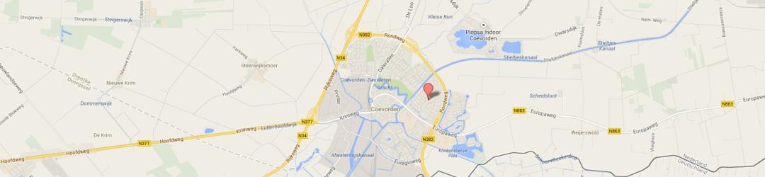 Kaart Sporthal Drostenhal